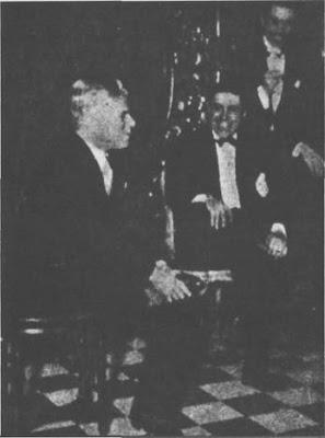 Carlos Gardel con Charles Chaplin en Niza