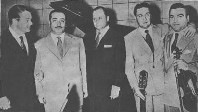 Aníbal Troilo,Argentino Galván,Héctor Stamponi,Roberto Grela y Enrique Mario Francini