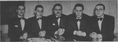 Elvino Vardaro, Julio De Caro, Ciriaco Ortiz, Francisco De Caro y Carlos Marcucci, integrantes de los Virtuosos