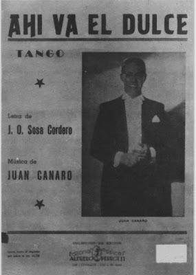 Partitura de Ahi va el Dulce de Juan Canaro