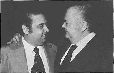 Ubaldo De Lio con Anibal Troilo en 1975