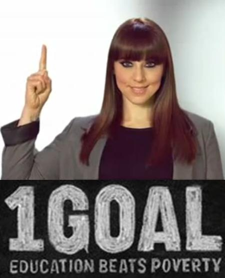 Campanha 1 Goal Education For All, apoiada por Melanie C.