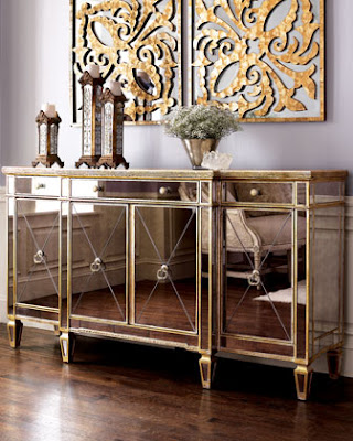 Copy Cat Chic Horchow Mirrored Buffet Console