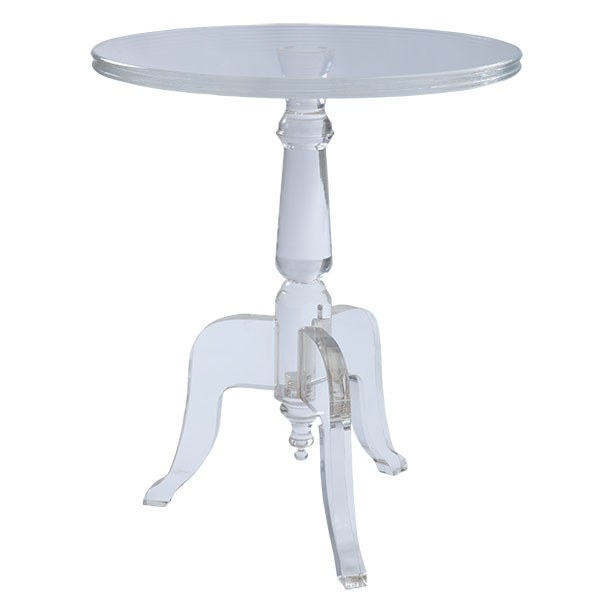 Horchow Acrylic Side Table Copycatchic