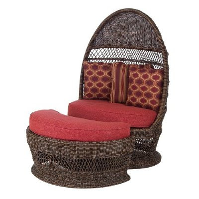 Copy Cat Chic Outdoor Wicker Egg Chair