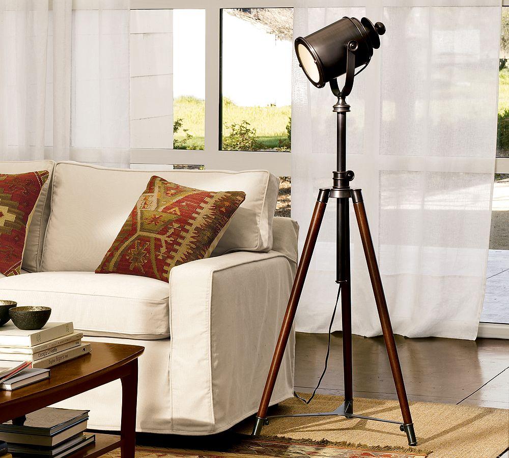 Best Place To Buy Leather Sofa Pauline Pottery Barn Photographer's Tripod Floor Lamp - Copycatchic