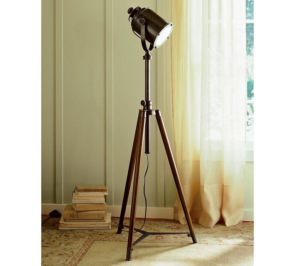 Pottery Barn Photographer's Tripod Floor Lamp - copycatchic