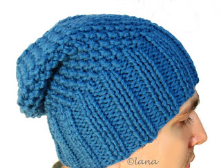 Knitting pattern hat beanie men women