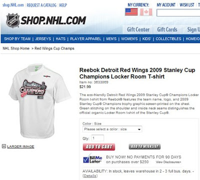 first rate 115e6 5fdb9 2 Political Junkies: NHL Store declares Detroit Red Wings ...
