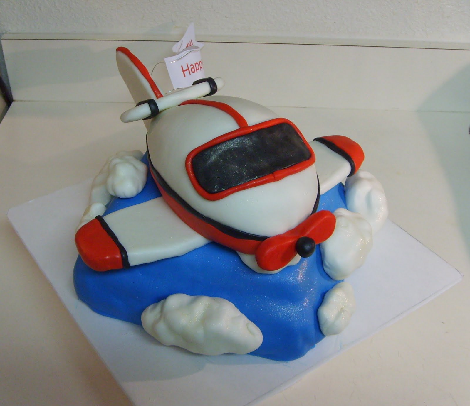 How To Make An Airplane Birthday Cake