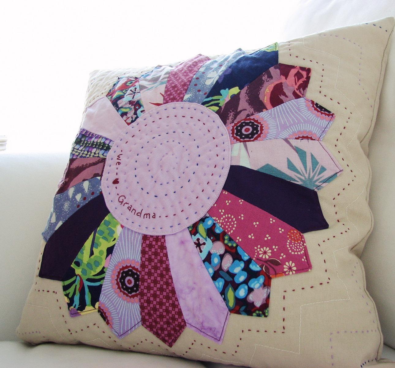 Blue Elephant Stitches: A Pillow for Grandma