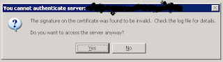 server certificate error in Lotus Notes...NOT Domino