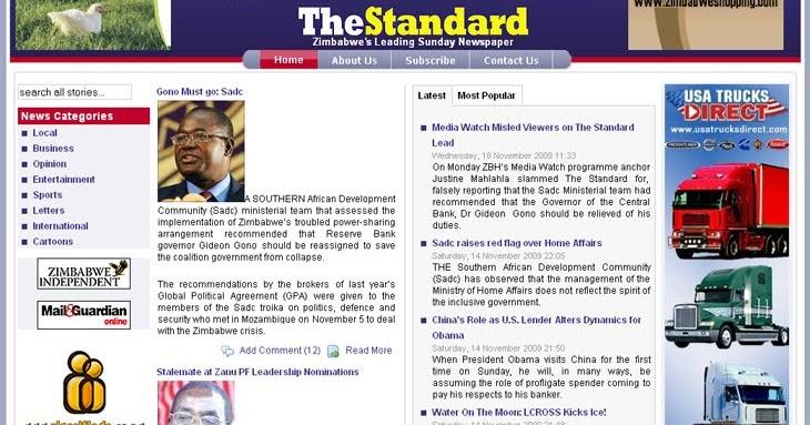 Zimbabwe People - The Great Zimbabwe Story: Zimbabwe Standard BIASED OR FAIR