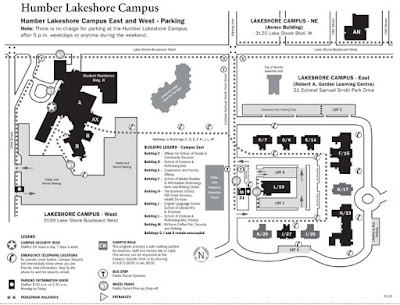 Humber Lakeshore Campus Map Friends of Sam Smith Park: HUMBER COLLEGE MAP Humber Lakeshore Campus Map