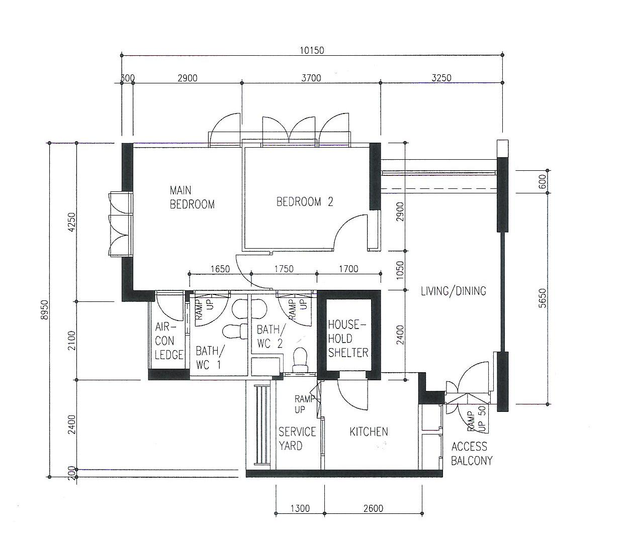 Tiny Flat Bendemeer The Journey To A New House Floor Plan