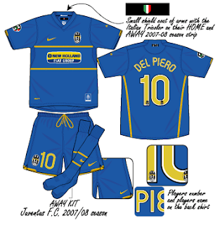 detailed look 94605 9ac0b Football teams shirt and kits fan: Juventus FC Serie A 2007 ...