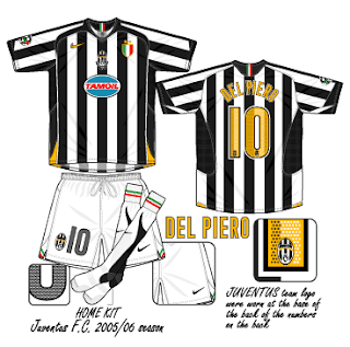 competitive price 08496 87233 Football teams shirt and kits fan: Juventus FC Serie A 2005 ...