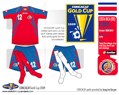 Football teams shirt and kits fan  Completed Costa Rica Gold Cup ... 0aeb8d795