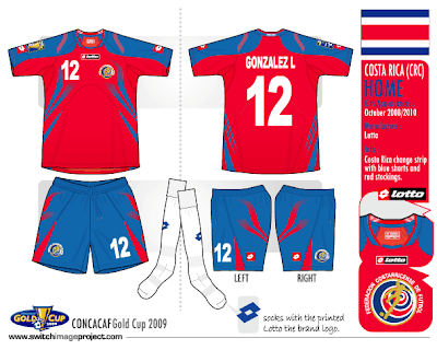 Football teams shirt and kits fan  Costa Rica 2008 10 home kits 4fe1ba981