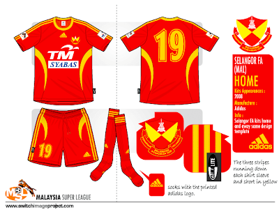 Selangor FA shirt will be worn with red shorts and red socks. Selangor FA  away kits same design as home only reverse the colour. ebf9a6640