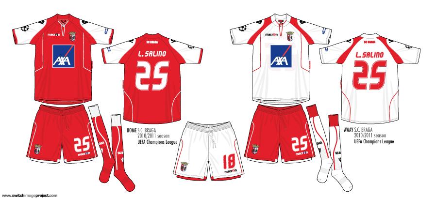 SC Braga: Football Teams Shirt And Kits Fan: December 2010
