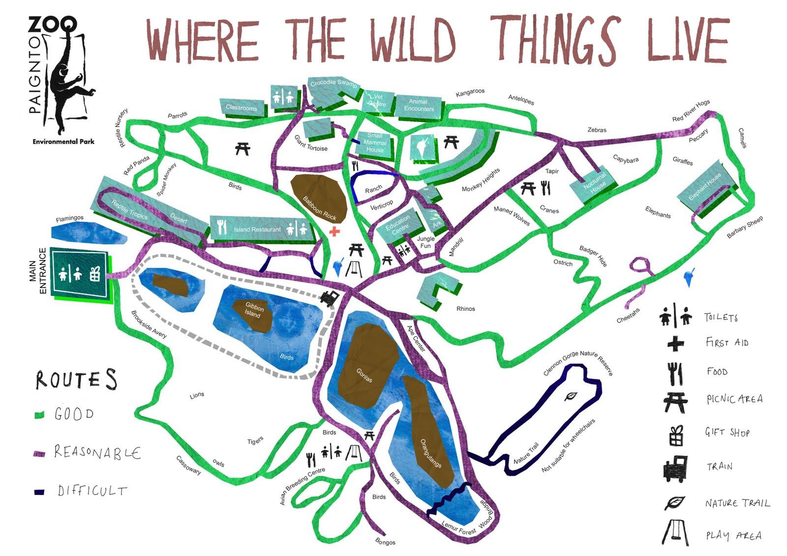Paignton Zoo Map Tori Elliott Illustration: Paignton Zoo Map Paignton Zoo Map