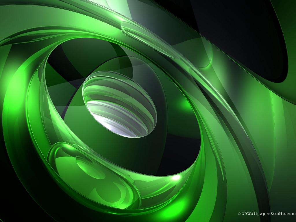 3d abstract green clown - photo #23
