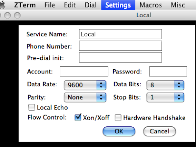 Using Zterm with Cisco routers on a Mac | Cosmic Tech Dust