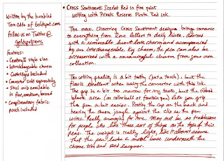 Review : Cross Sentiment Scarlet Red Fountain Pen
