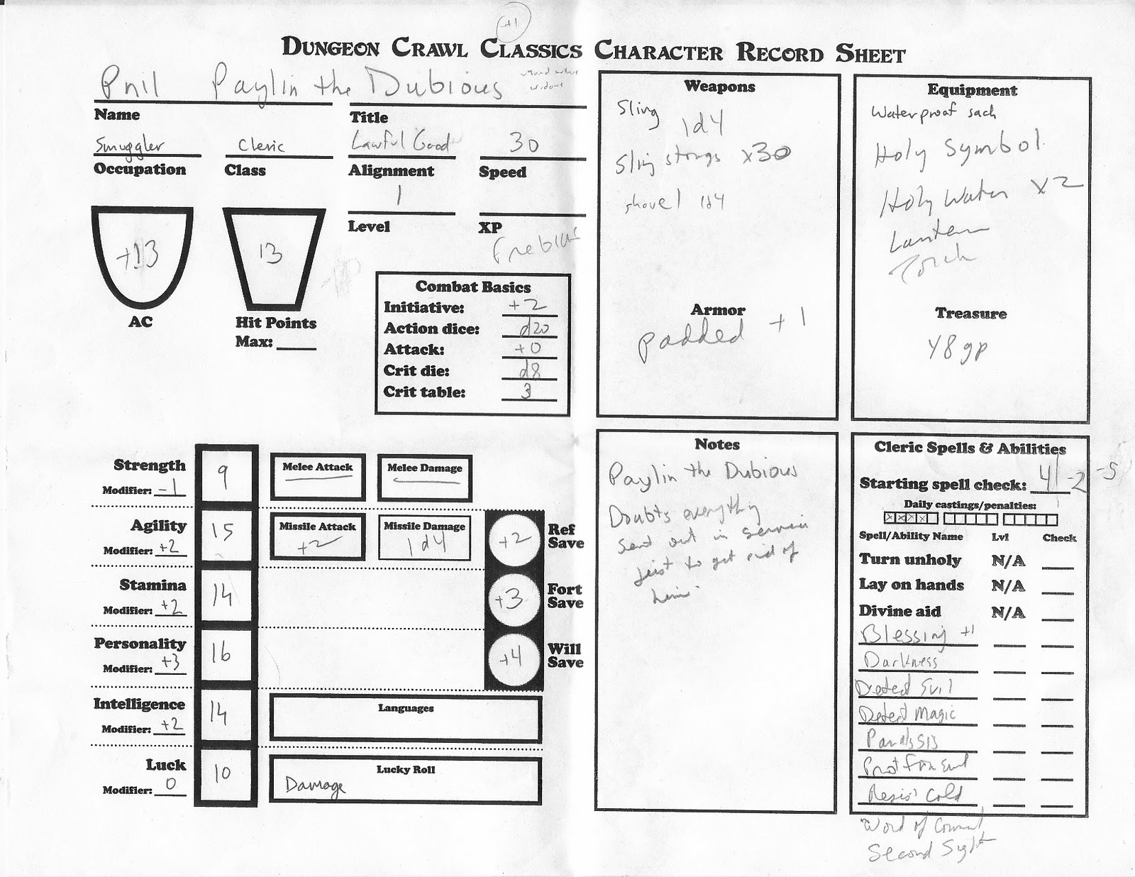 Cyclopeatron Dungeon Crawl Classics Rpg Playtest And