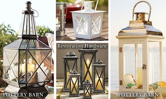 pottery barn inspired lantern from 5