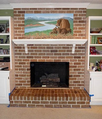 Painting Brick Fireplace From White To Beautiful