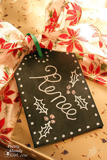 chalkboard paint projects - gift tags