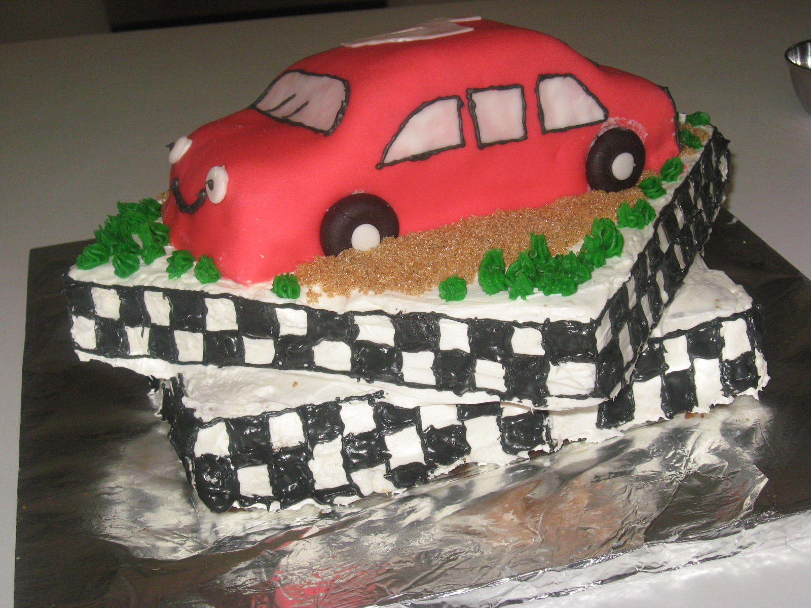 Birthday Cake Photos Racing Car : Rinkusrasoi: Race Car Birthday Cake