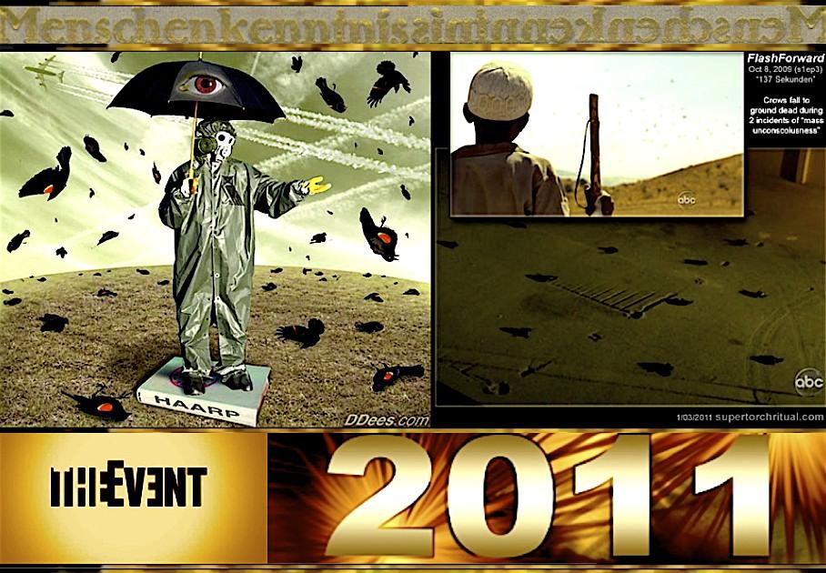 : BEGINNING OF 2011: WAR IN SPACE. BIRDS FALLING FROM SKY ...