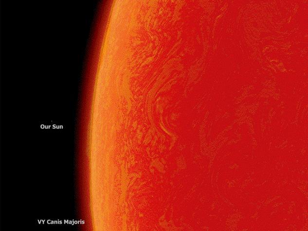 biggest star compared to sun - photo #10