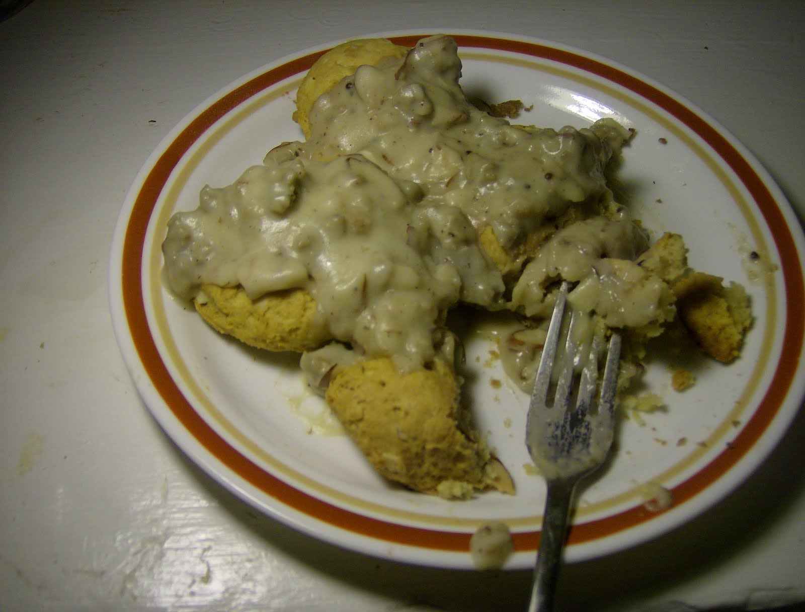 Sci Fried Soggy Biscuits and Nut Gravy