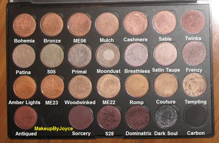 Makeupbyjoyce Collection And Swatches Browns Palette