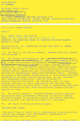 China's aid to Iranian nuclear weapon program - Wikileaks