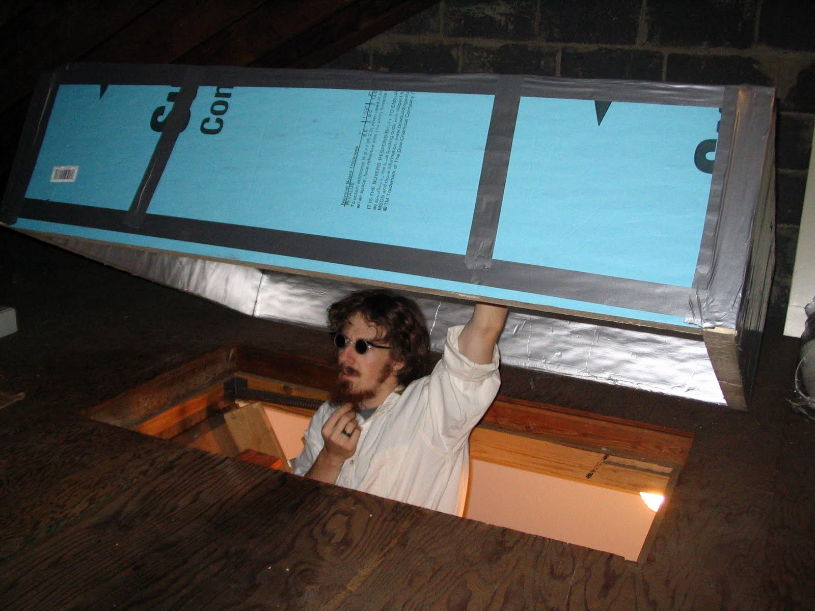 My Green Blog How To Build An Insulating Attic Stair Box