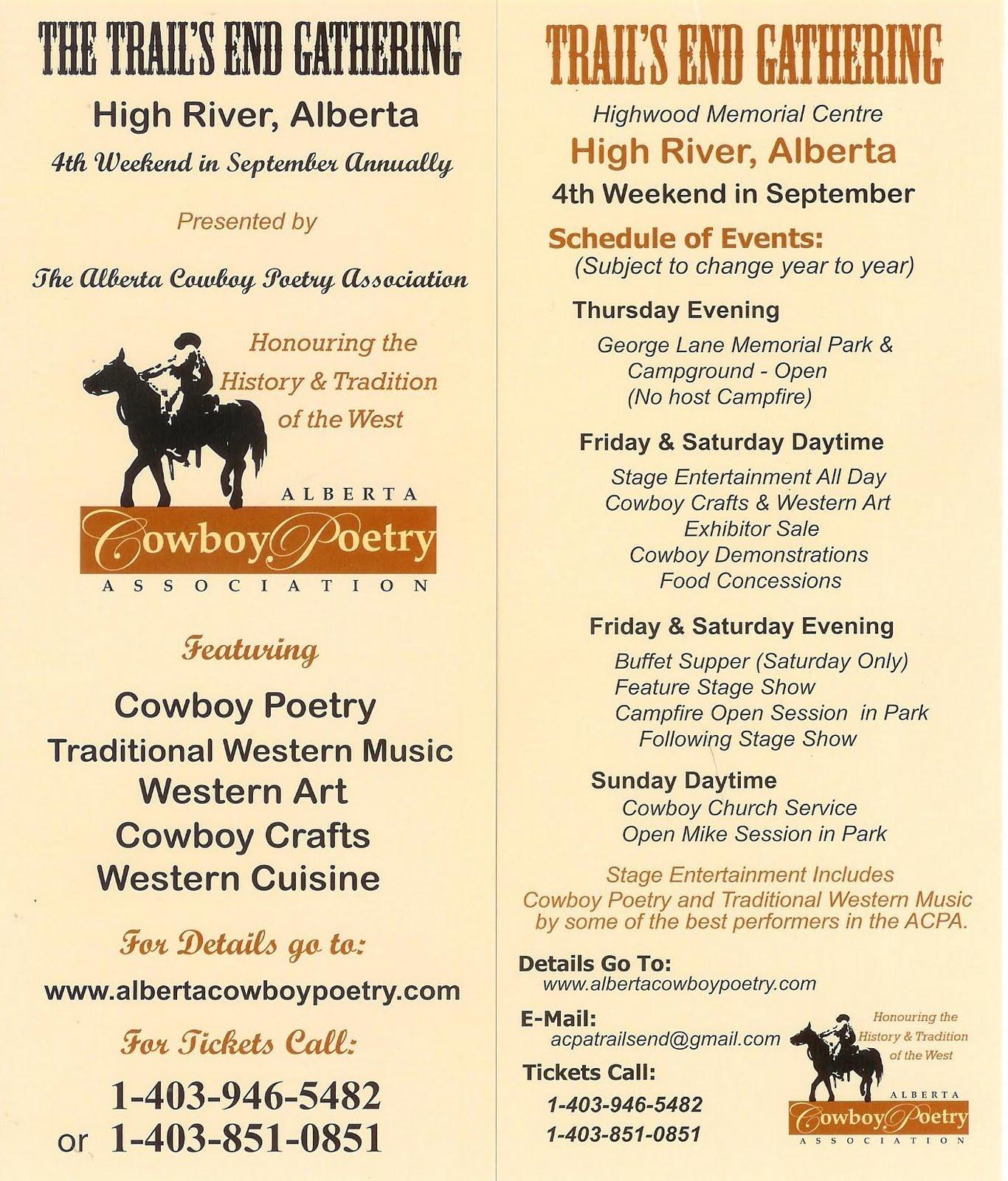 Comedy Cowboy Upcoming Alberta Cowboy Poetry Assoc Event