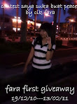 @13 feb : FARA FIRST GIVEAWAY