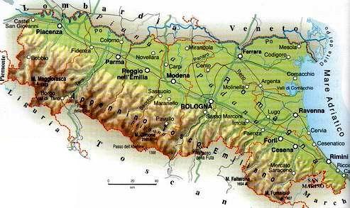 Cartina Fisico Politica Emilia Romagna.Le Regioni Italiane Emilia Romagna