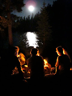 Hanging around the campfire at Paynes Lake in the Russian Wilderness. (Photo courtesy of Thom Gabrukiewicz)