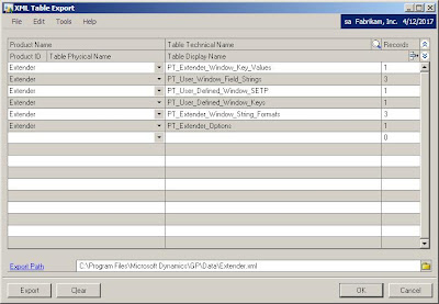 The Dynamics GP Blogster: Transferring Extender customizations from