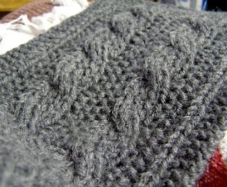 Free Knitting Pattern Reversible Cable Scarf Very Simple Free