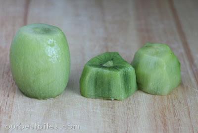 kiwi fruit peeled and cut