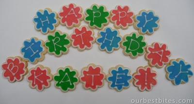 happy birthday kate iced cookies
