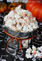 Or White Chocolate Covered Popcorn With Candy Cornpeanuts And Peanut Butter Candies But Monster Munch Sounds Way More Fun And Halloween Ish