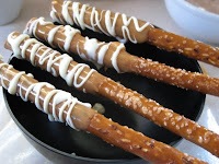 Dipped Pretzel Rods